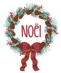 Noel Wreath embroidery design