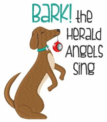 Bark Herald Angels embroidery design
