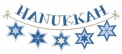 Hanukkah embroidery design