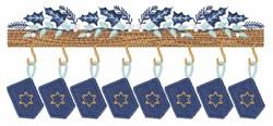 Hanukkah Mantle embroidery design