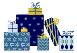Hanukkah Gifts embroidery design