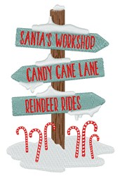 North Pole Signs embroidery design