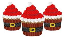 Santa Cupcakes embroidery design