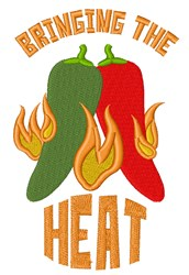 Bringing The Heat embroidery design
