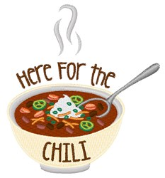 Here For Chili embroidery design