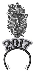 New Year 2017 embroidery design