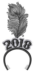 New Year 2018 embroidery design