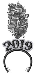New Year 2019 embroidery design