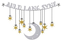Auld Lang Syne embroidery design