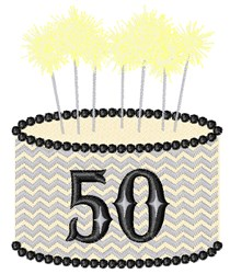 50th Birthday embroidery design