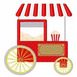 Popcorn Cart embroidery design