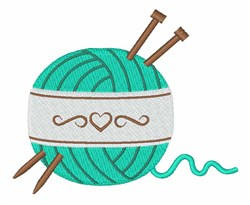 Knitting Yarn embroidery design