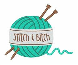 Stitch & Bitch embroidery design