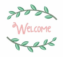 Welcome embroidery design