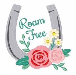 Roam Free embroidery design