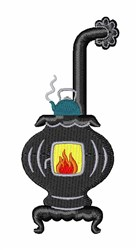 Wood Stove embroidery design