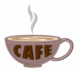 Cafe Cup embroidery design