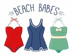 Beach Babes embroidery design
