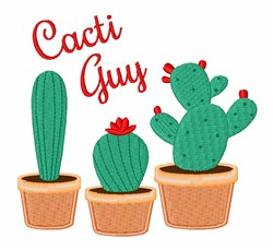 Cacti Guy embroidery design