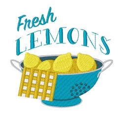 Fresh Lemons embroidery design