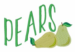 Fruit Pears embroidery design
