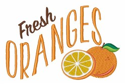 Fresh Oranges embroidery design