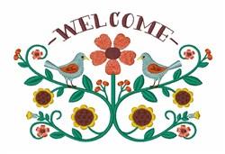 Folk Art Welcome embroidery design