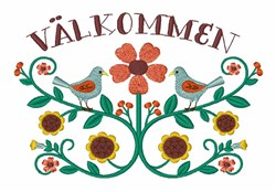 Valkommen embroidery design