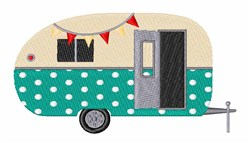 Retro Camper embroidery design