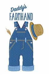 Daddys Farmhand embroidery design