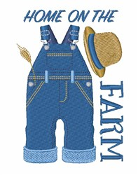 Home On Farm embroidery design