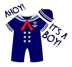 Ahoy Boy embroidery design
