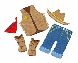 Cowboy Clothes embroidery design
