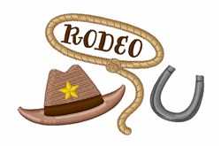 Cowboy Rodeo embroidery design