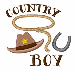 Country Boy embroidery design