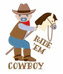 Ride Em Cowboy embroidery design