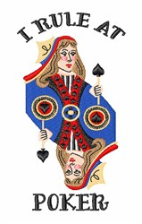 Rule At Poker embroidery design