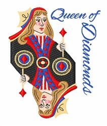 Queen Of Diamonds embroidery design