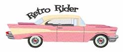 Retro Rider embroidery design