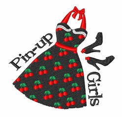Pin-up Girls embroidery design