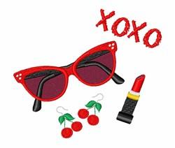 Retro XOXO embroidery design