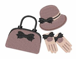 Purse Hat Gloves embroidery design