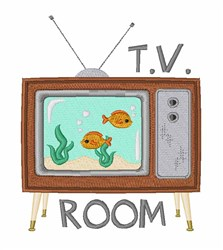 TV Room embroidery design