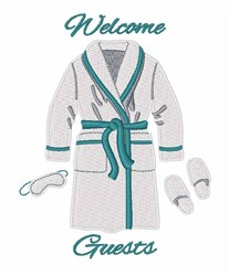 Welcome Guests embroidery design