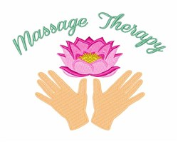 Massage Therapy embroidery design