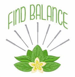 Find Balance embroidery design