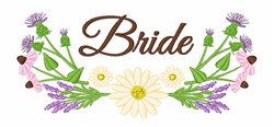 Bride Flowers embroidery design