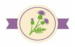 Thistle Flowers embroidery design