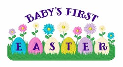 First Easter embroidery design