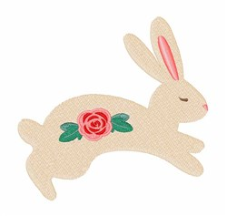 Rose Bunny embroidery design